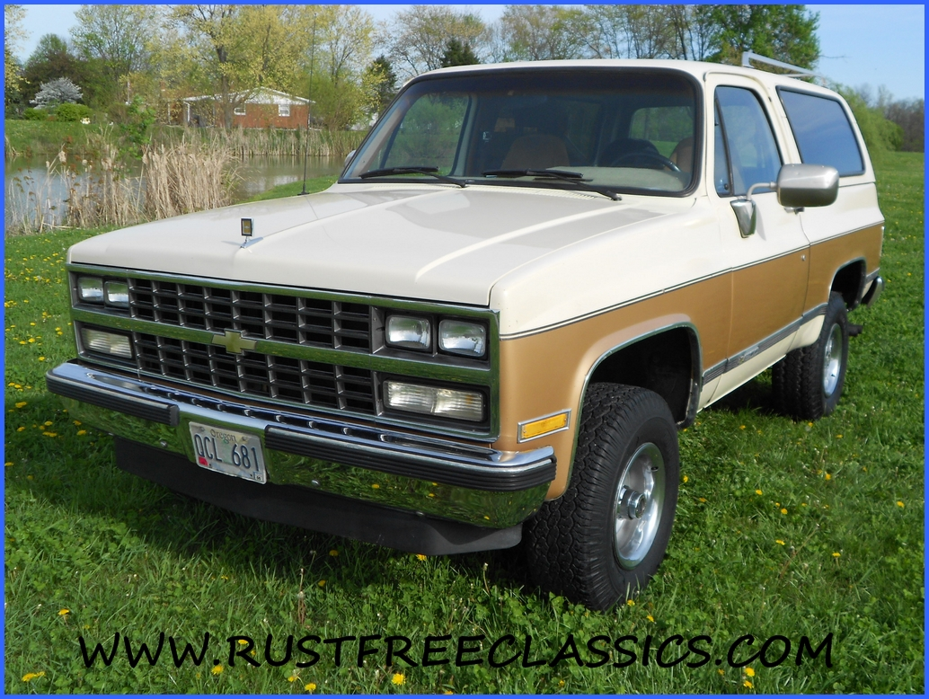 1989 89 Chevrolet Chevy 4x4 K5 Blazer Silverado Gold And Tan